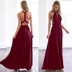 Dresses & Skirts - One size fits all Infinity burgundy dress
